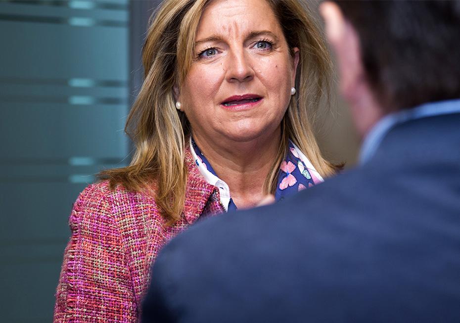 Ana Espinel, directora general de Audiotec, durante la entrevista - Foto: Jesús Umbría