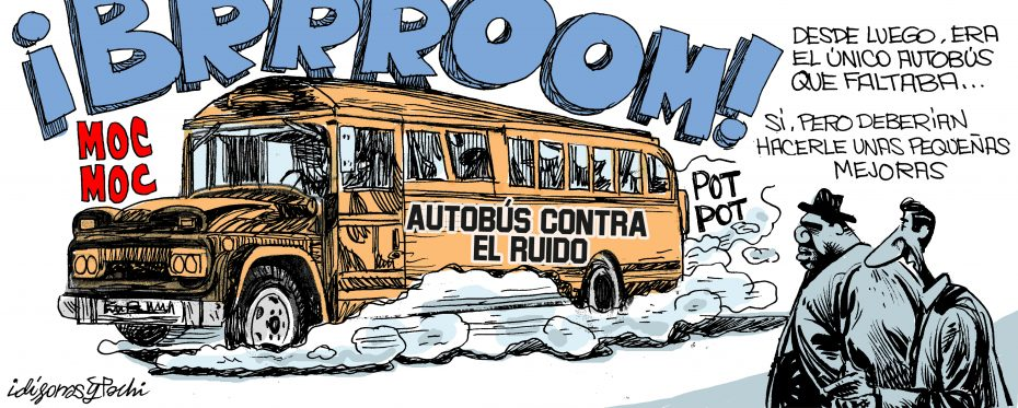 Autobus contra el ruido - conRderuido.com - Idígoras y Pachi