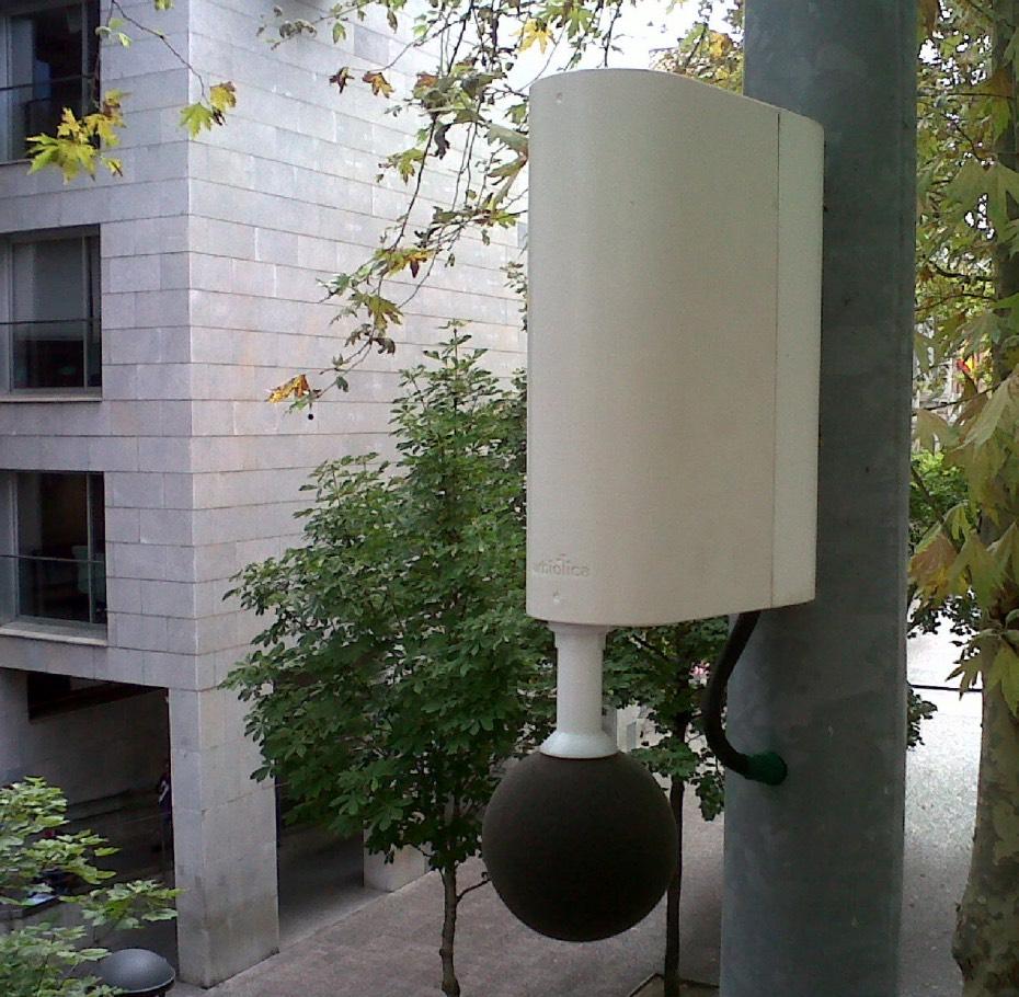 Sonómetro de Urbiótica instalado en Girona